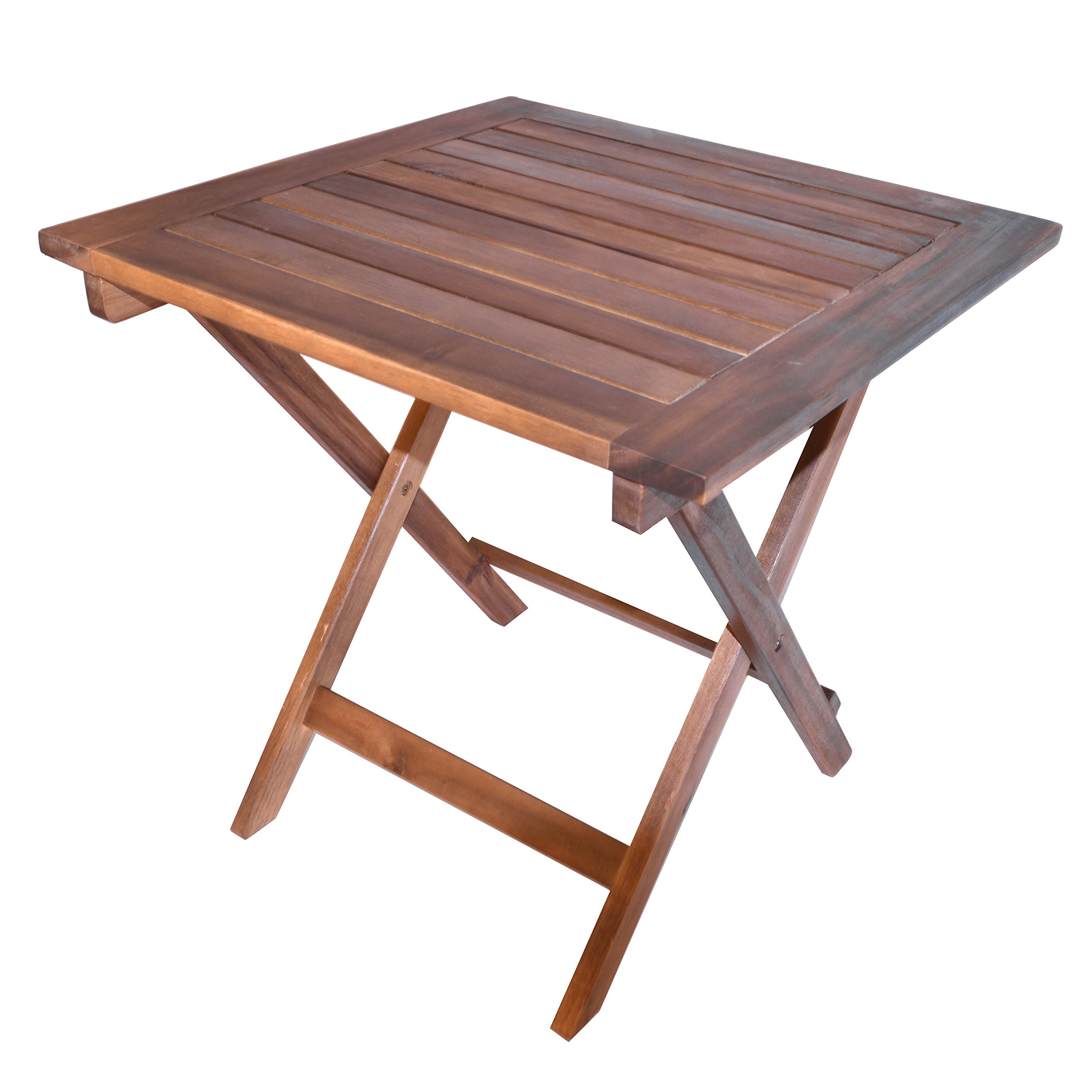 Décor Therapy FR1875 Outdoor Dining Table, Size 19.7w 19.7d 19.7h, Brown
