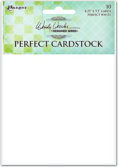 "Wendy Vecchi Perfect Cardstock 4.25/""x5.5/"" 10//pkg-white Panels"