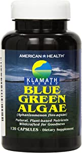 American Health Klamath Shores Blue Green Algae Capsules - Fresh Water Phytonutrient-Rich Algae Superfood Supplement - Pesticide-Free - 120 Total Servings