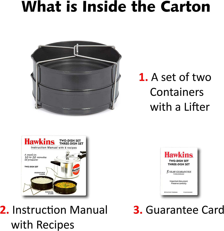 2 HAWKINS ADS5 Pressure Cooker Dish Set Black Kitchen & Dining ...