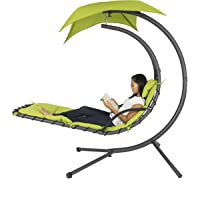 Hanging Hammock Chair Canopy with Arc Stand (Green)