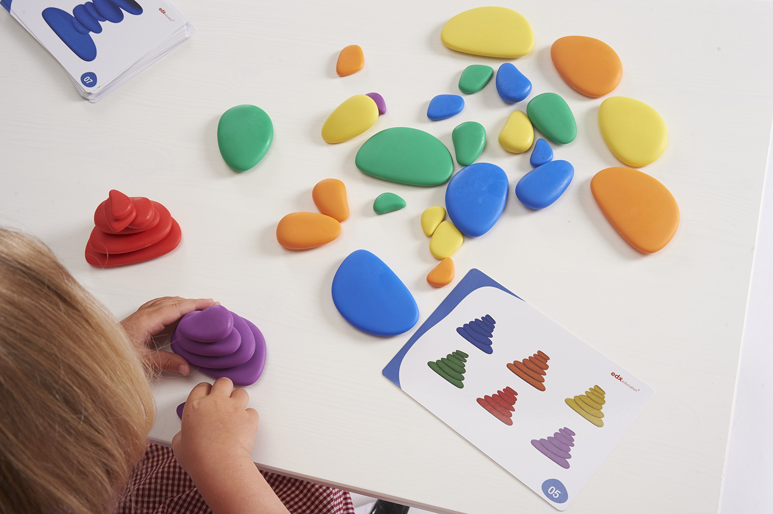 edx Education Rainbow Pebbles - Sorting and Stacking Stones by edxeducation (Image #8)