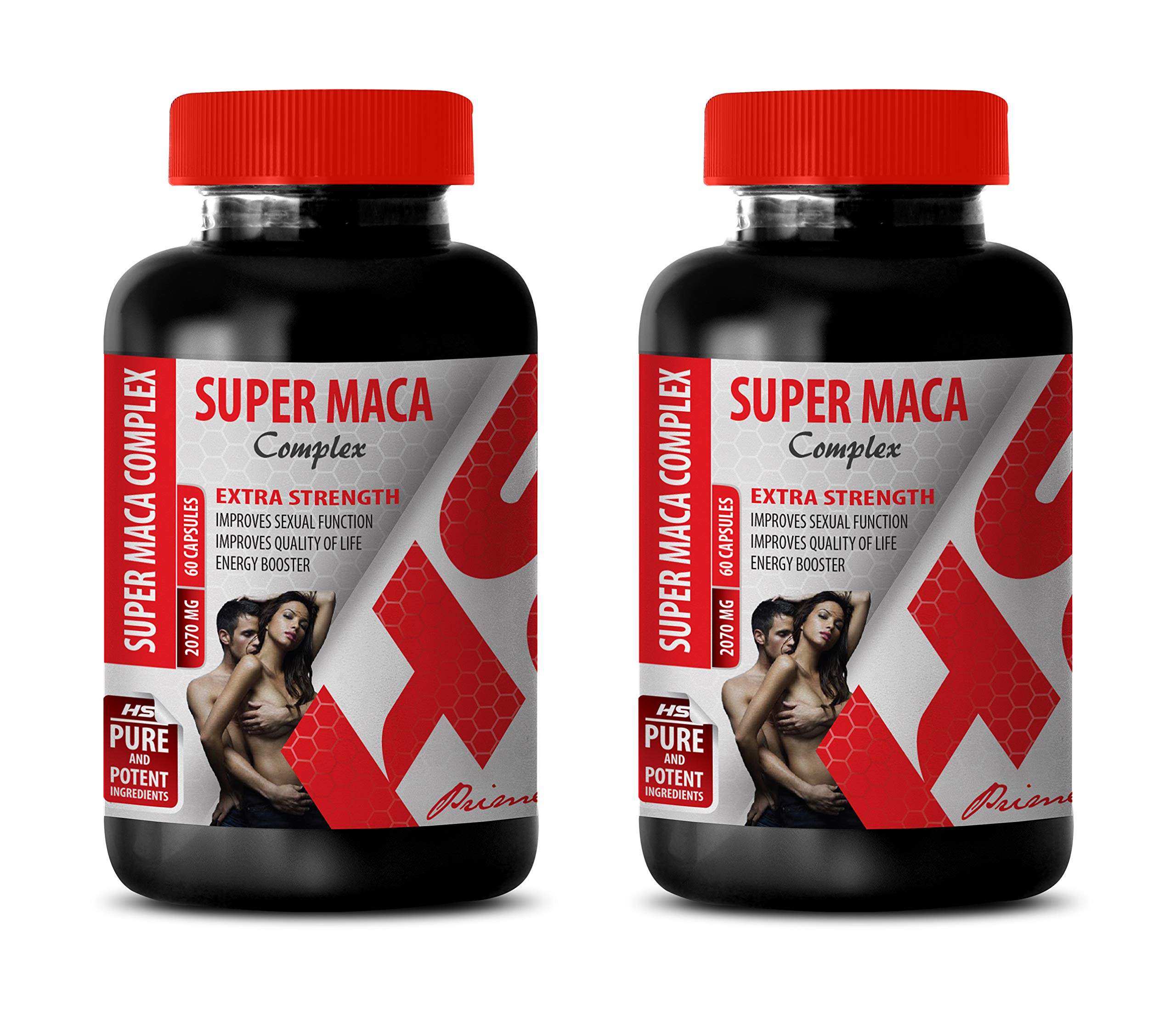 Best Male Enhancing Pills Erection - Super MACA Complex 2070 Mg - Extra Strength - maca Root Capsules for Fertility - 2 Bottles 120 Capsules by Healthy Supplements LLC (Image #1)