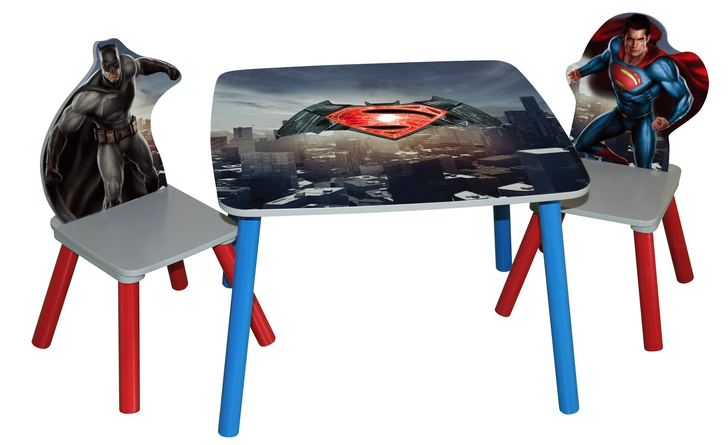 O'Kids Superman: Dawn of Justice Wooden Table and Chair Set