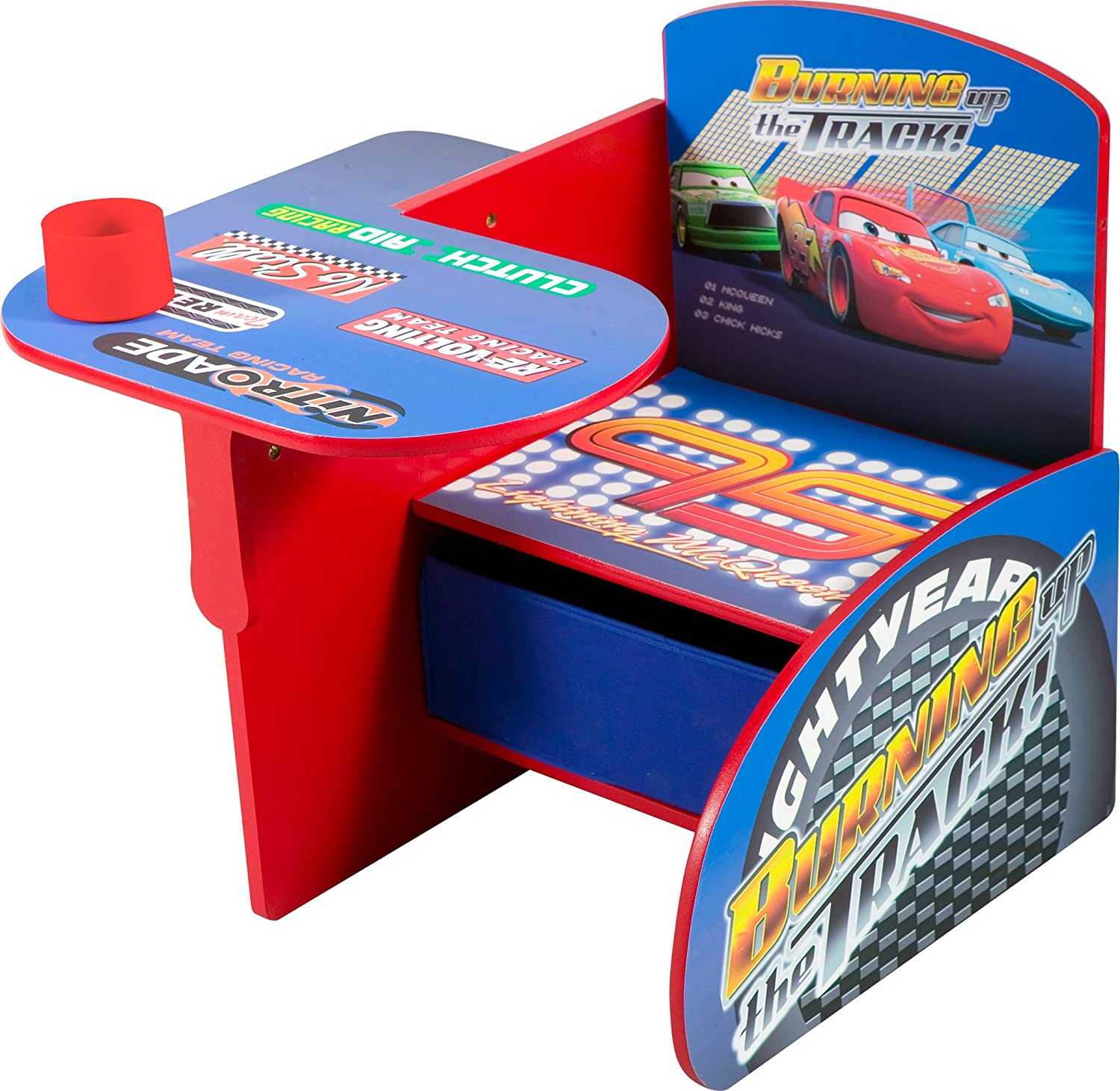 Amazon Disney Cars Chair Desk with Pull out under the Seat