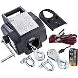 Ribimex PE12V/T Verricello Elettrico Telecomandato, Grigio