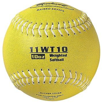Markwort - Pelota de Softball con Peso de 28 cm, Color Verde Oliva ...