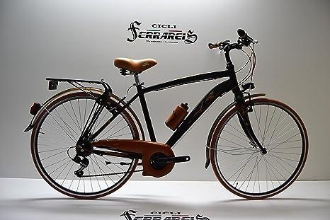 Cicli Ferrareis Bicicleta o Bicicleta 28 Hombre 21 V de Aluminio ...