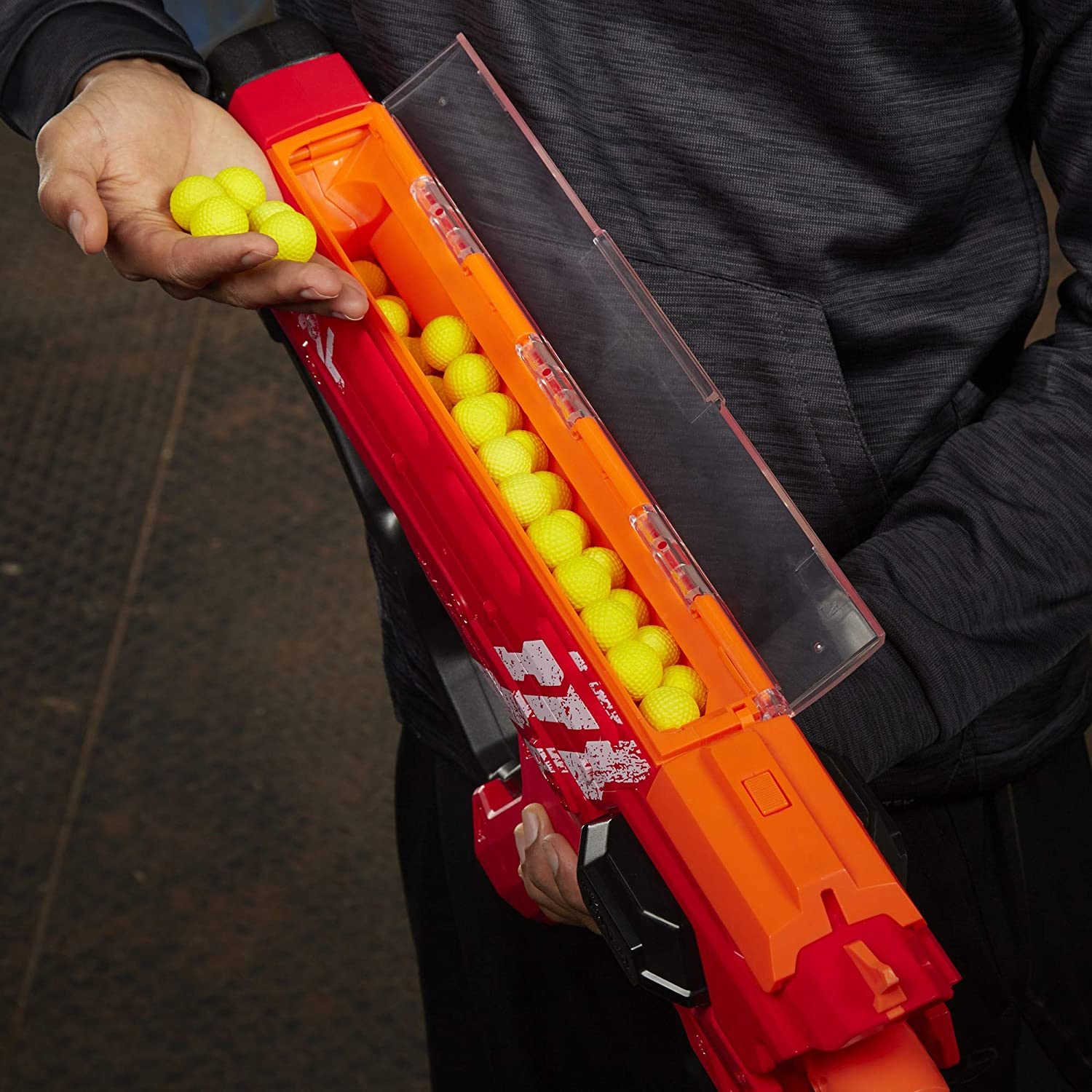 Fastest Blasting Rival System Perses Mxix-5000 Nerf Rival Motorized Blaster Red -