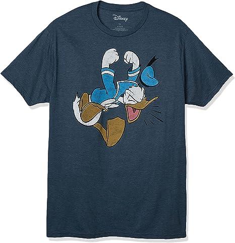 Donald Duck Ho Ho Ho Christmas Black T Shirt Cotton Men S-6XL
