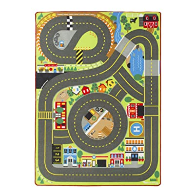 Melissa & Doug Jumbo Roadway Rug: Toys & Games