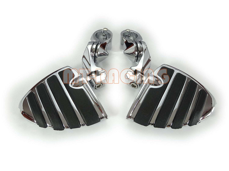 YUIKUI RACING オートバイ汎用 ハイウェイフットペグ タンデムペグ ステップ 1-1/4インチ/32mmエンジンガードのパイプ径に対応 ショートタイプ Honda/Yamaha/Kawasaki/suzuki/ハーレー等適用   B07GCCQGFW