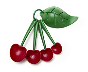 Mon Cherry Measuring Spoons and Egg Separator by Ototo