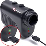 Saybien 1200 yard USB Rechargeable Premium Laser Rangefinder - Golf & Hunting range finder - Slope on/off Tournament Legal - accurate up to 1,200 yards or meters - Scan mode - Flag Lock