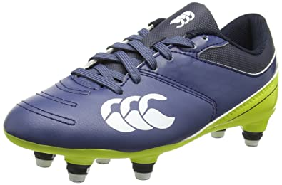 Canterbury Phoenix 2.0 Soft Ground, Chaussures de Rugby Garçon - Turquoise (Carribean Sea), 33 EU