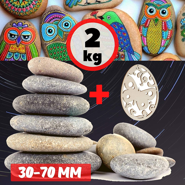 Piedras Planas para Pintar Guijarros de Jardin Grava Rocas decorativas Piedra Zen natural Mármol Grava Decoración grande Pintura acrílica Roca Decoración del acuario