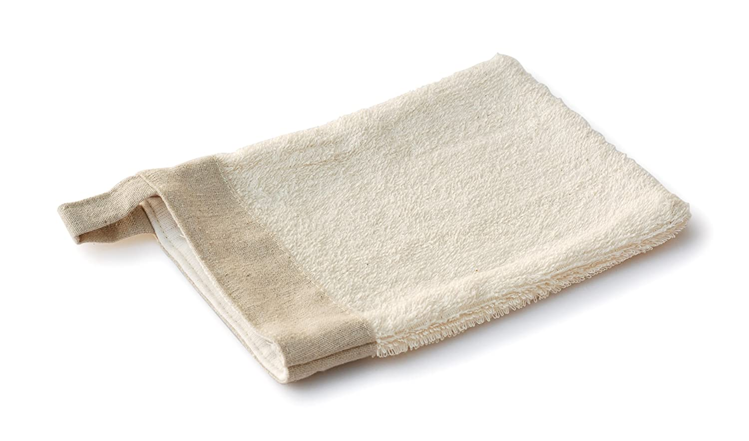 Basicare Sisal/Bamboo Towelling Double-Sided Bath Mitt, 14 x 21 cm Influx 2741