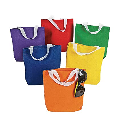 Amazon.com: Fun Express – Bolsas de tela de colores ...