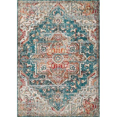 Luxe Weavers Blue 5x7 Oriental Area Rug