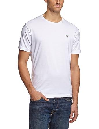 GANT Herren T-Shirt THE ORIGINAL SOLID, Gr. Small, Grau (WHITE
