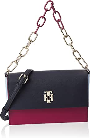 Tommy Hilfiger Crossbody for Women-Beet Red Mix
