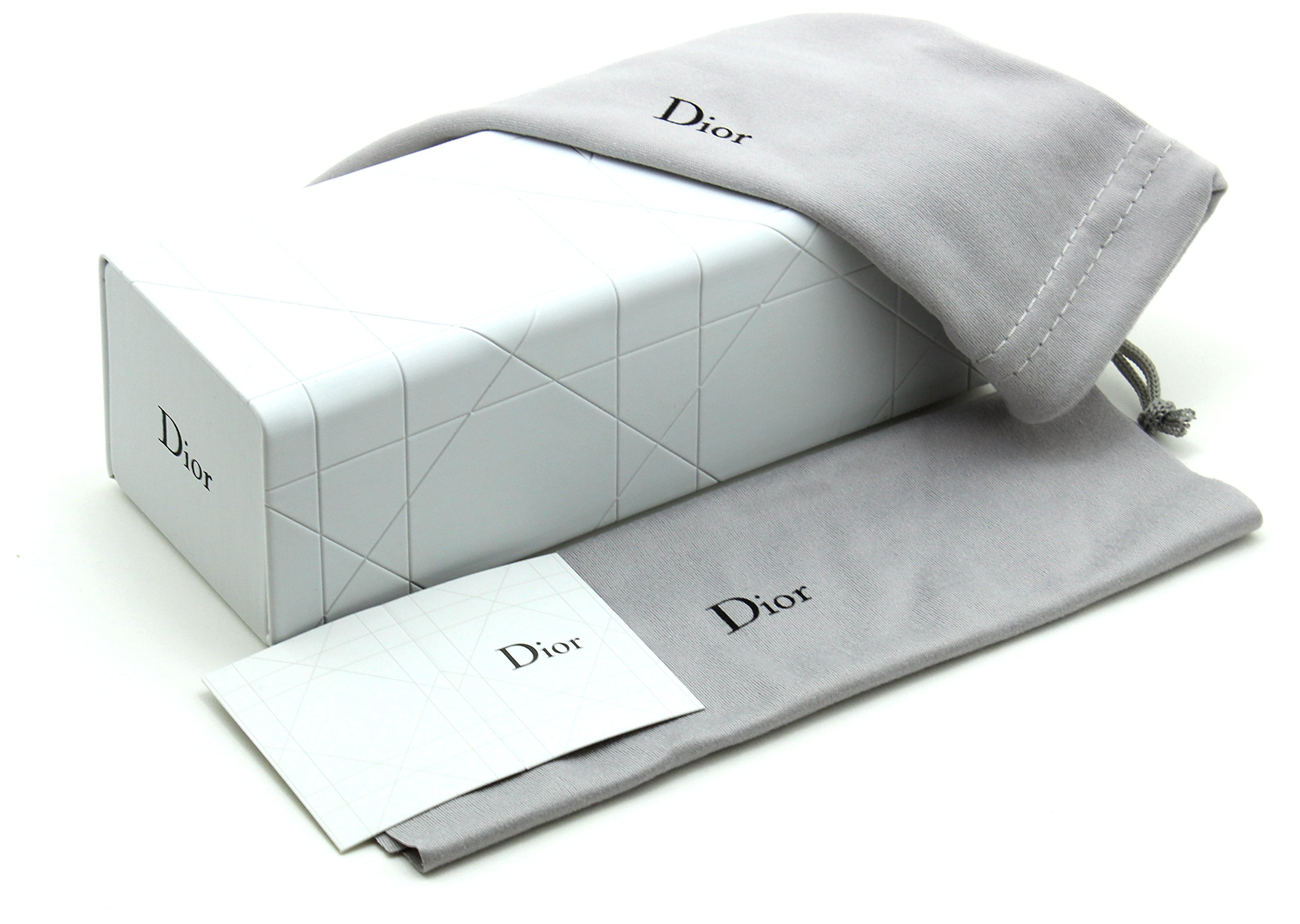 New Original Dior Sunglass Eyeglass Magnetic Hard Case w/Dior Cleaning Cloth and Soft Pouch Small