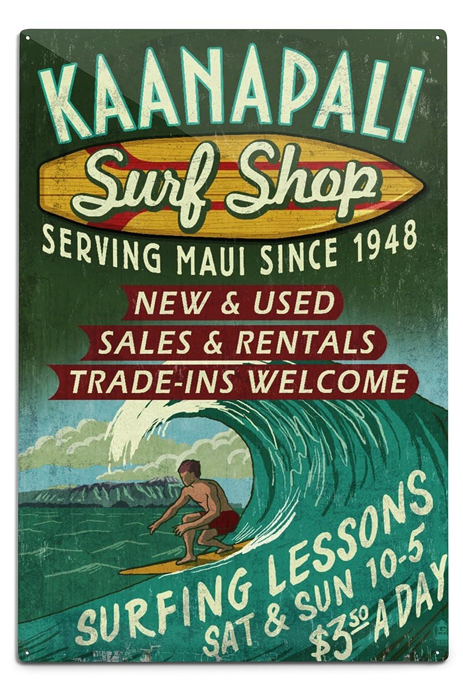 海外ブランド  kaanapali Metal x、ハワイ – Sign Surf Shop Vintage Sign Canvas Tote Bag LANT-57039-TT B06Y1KNGWB 12 x 18 Metal Sign 12 x 18 Metal Sign, 須恵町:b447bfa7 --- arianechie.dominiotemporario.com