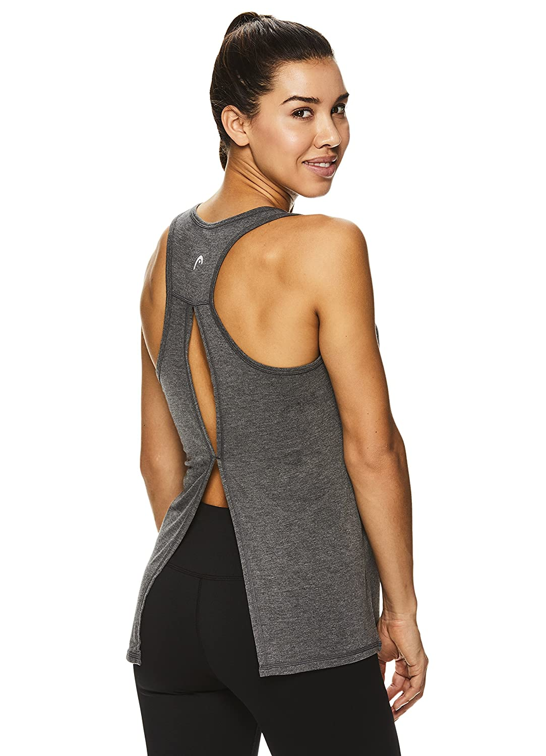 f07164cf6f6bd HEAD Women s Racerback Workout Tank Top - Ladies Activewear Shirt w Open  Back Detail at Amazon Women s Clothing store