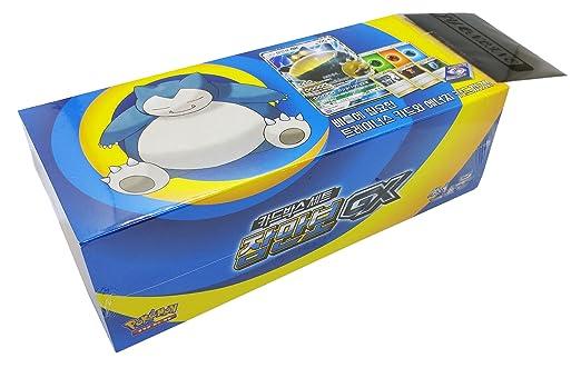 3 opinioni per Pokémon Carte Sun & Moon Snorlax-GX Box coreano Ver TCG + 3pcs Premium Card
