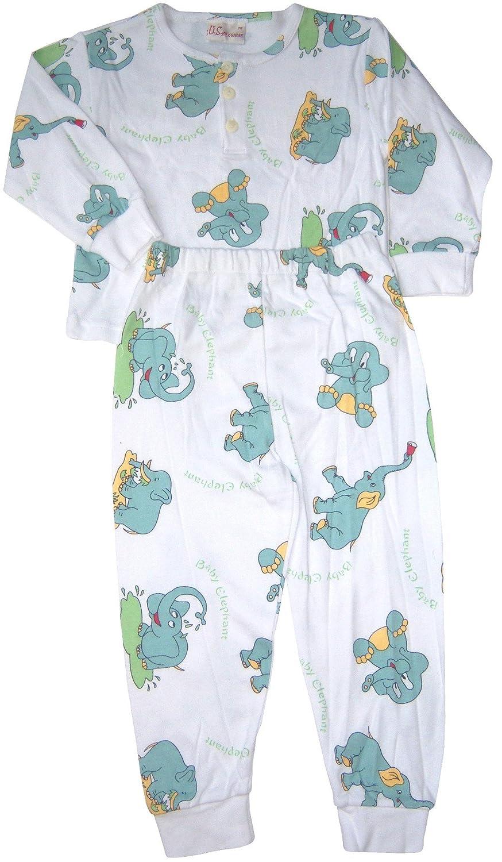 US Giftwear Unisex-Child Happy Baby Elephant 2-pc Pajama Set Size:12m-6x