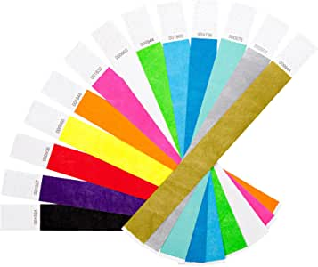 Colour Event Wristbands Ideal for Parties Festivals Security Identification Made from Tyvek Paper