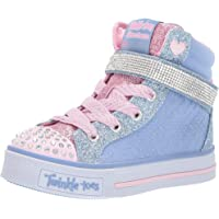 Skechers Australia Twinkle LITE - Beauty-N-Bling Girls Training Shoe, Light Blue/Pink