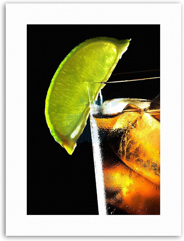 Ron y Coca Cola Lime Bar alcohol hielo imagen lienzo Art ...