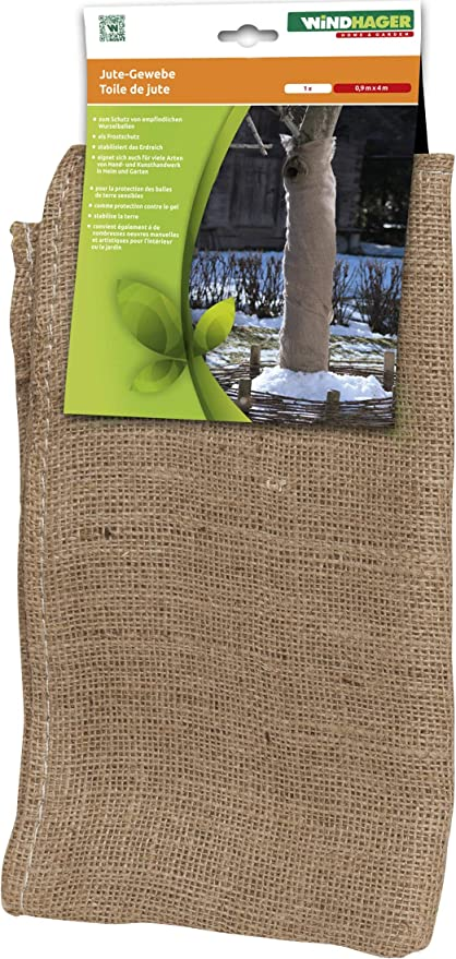 Windhager tela de jardín Estera de tela de yute Protección contra el invierno Protección contra el frío Protección contra las heladas, también ideal para decorar, 0, 91 x 4 m, marrón, 06585: Amazon.es: Jardín