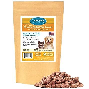 Amazon.com: Raw Paws Pet Freeze Dried Turkey Dog Treats ...