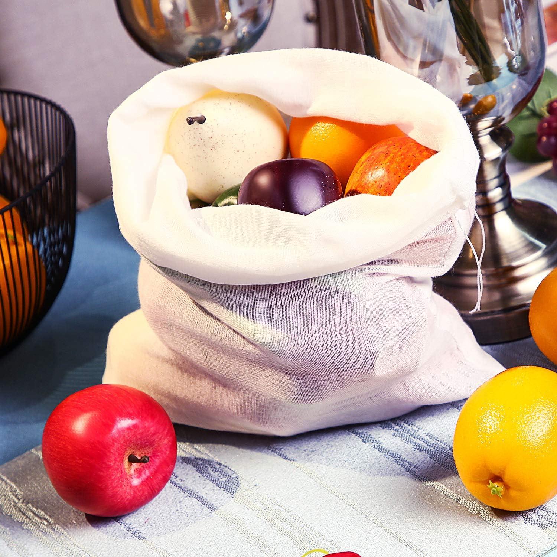 6 Packungen Weich Baumwoll Musselin Tuch oder Taschen Milchfilter im Haus 50 x 50 cm Musselin Taschen Geeignet f/ür Straining Obst Wein Butter