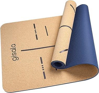 gisala tapis de yoga en bois de liege tapis de sport ecologique materiaux 100 recyclables tapis yoga antiderapant et anti transpiration tapis