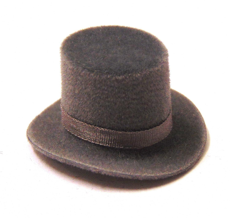 Tumdee Miniatures Wearable Felt Dolls House Grey Bowler Hat With Grey Band