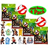 Ghostbusters Ecto Minis Basic Figure Mystery Blind Bags Gift Set Party Bundle - 4 Pack (Assorted)