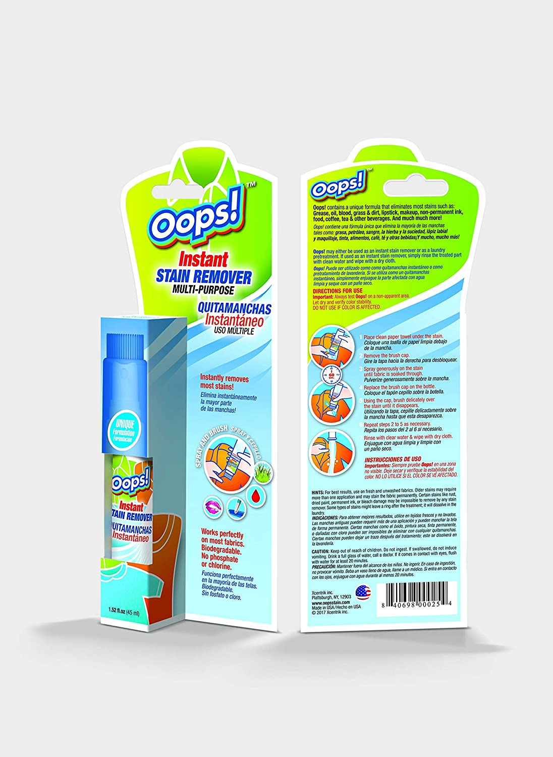 Amazon.com: Oops! Instant Stain Remover. Elimininates Stains ...