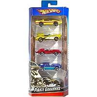 Hot Wheels 01806 5-pack 1:64 gjuten fordon presentset, 5 leksaksbilar, slumpmässigt urval, från 3 år