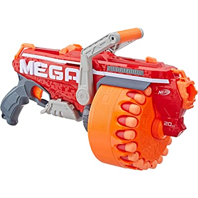 Megalodon Nerf N-Strike Mega Toy Blaster with 20 Official Mega Whistler Darts Includes: Blaster, Drum, 20 Darts, & Instructions: Toys & Games
