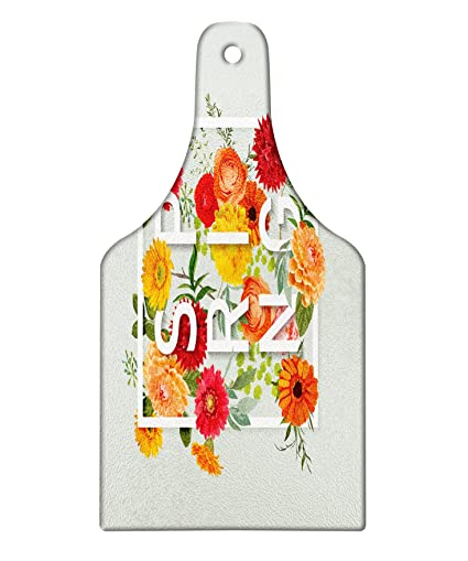 Amazon.com: Lunarable Flower Cutting Board, Magazine Cover Like ...