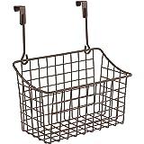 Spectrum Diversified Grid Storage Basket, Over the Cabinet, Steel Wire Sink Organization for Kitchen & Bathroom, Medium, Bron