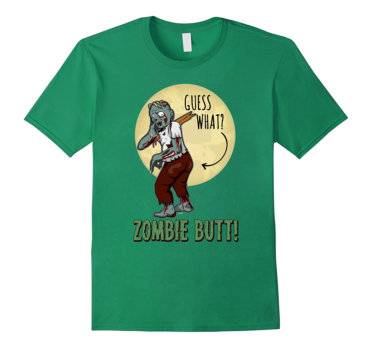 Funny Halloween Shirt for Kids Guess What? Zombie Butt-FL