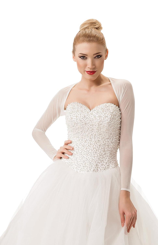 Womens Bridal Tulle Bolero Shrug Ladies Wedding Jacket
