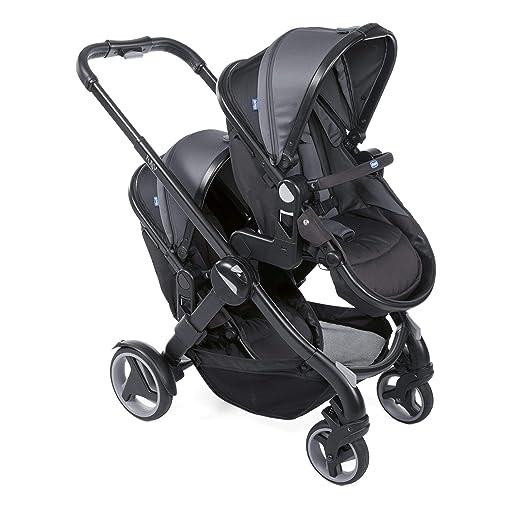 Chicco Fully Twin Silla de paseo gemelar, capazo y silla de paseo transformable, color negro: Amazon.es: Bebé