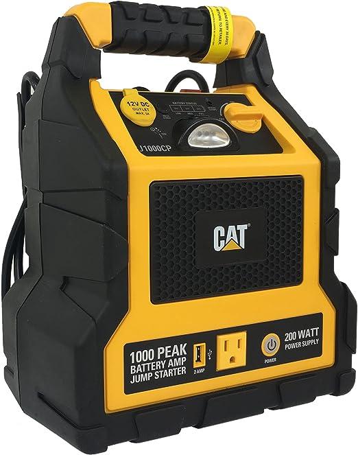 3 en 1 diseño de gato profesional estación de alimentación con batería de arranque y compresor: Amazon.es: Jardín