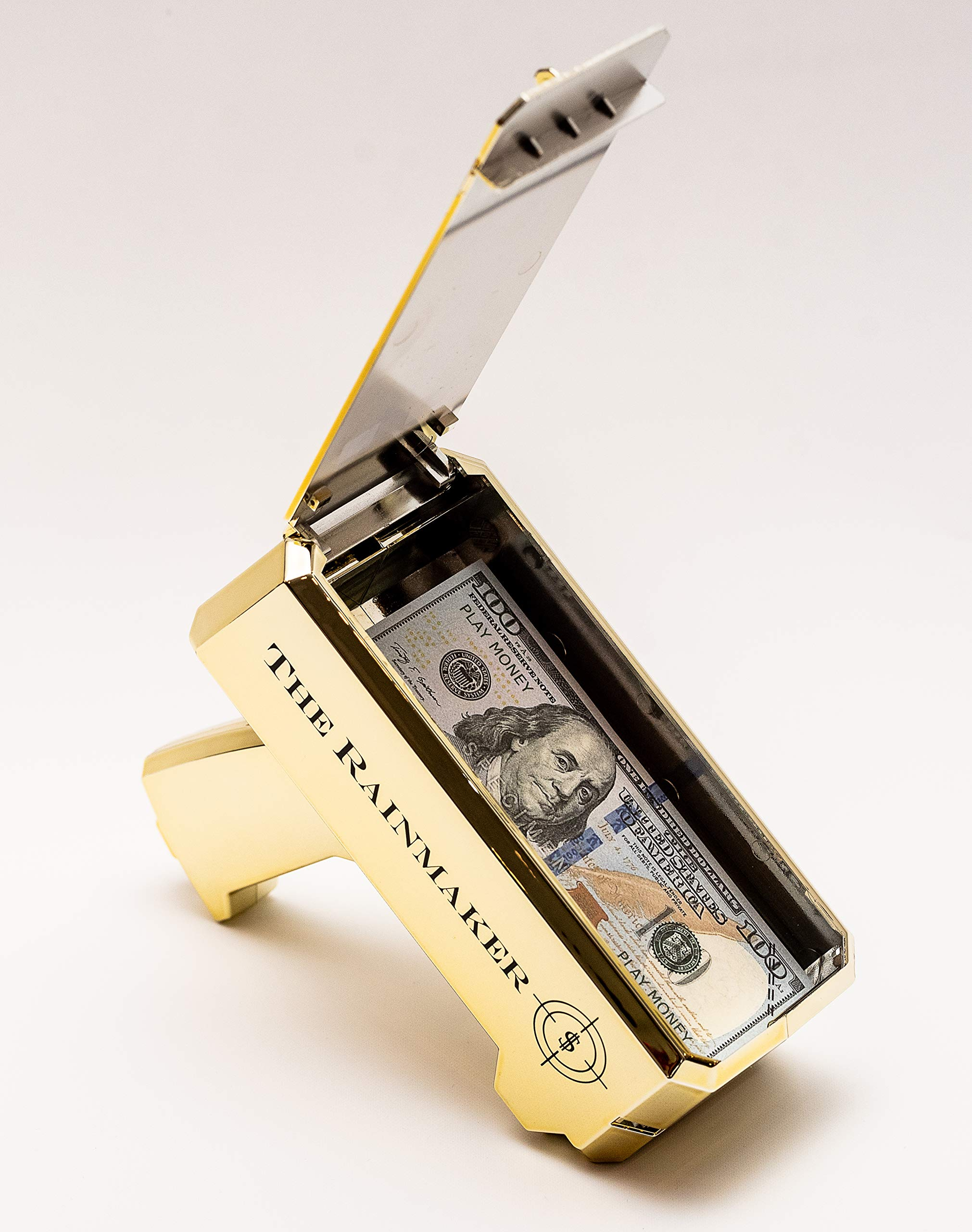 All Out Solutions The Rainmaker Money Gun | $10,000 Play Money | Money Looks Real! | Metallic Gold | Impress Your Friends with This Fun Party Toy | Shoot Cash and Make It Rain by All Out Solutions (Image #8)