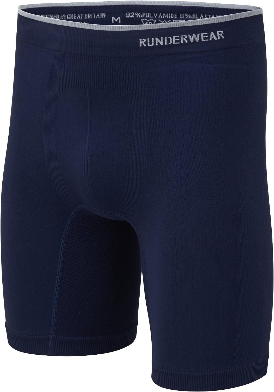 """Runderwear Men's Long Boxer Briefs (7.5"""" inch) - Chafe-Free Running Underwear"""